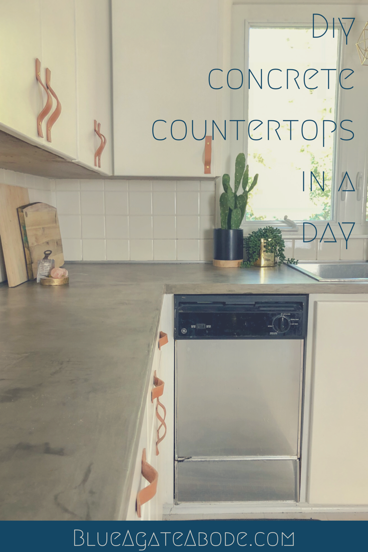 Diy Concrete Countertops In A Day Blue Agate Abode